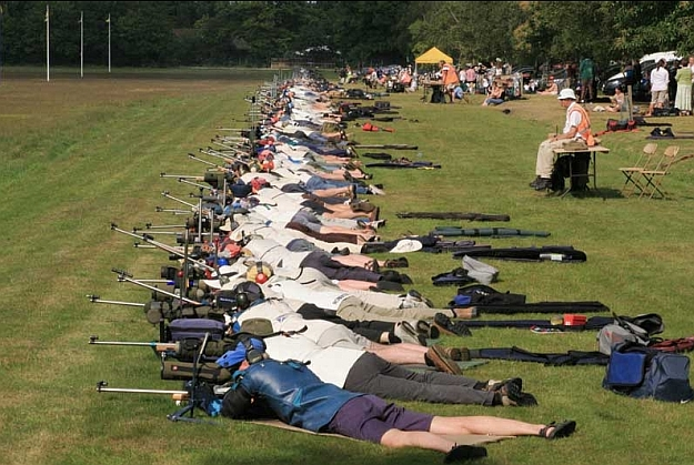 Members of the Stock Exchange Rifle Club regularly compete at the Imperial Meeting held at Bisley every July